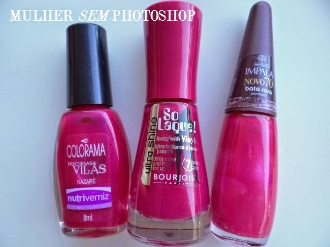 Esmaltes rosa mais bonitos