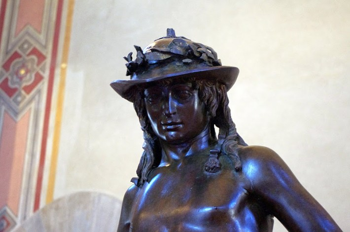 David de Donatello en el museo Bargello, Florencia