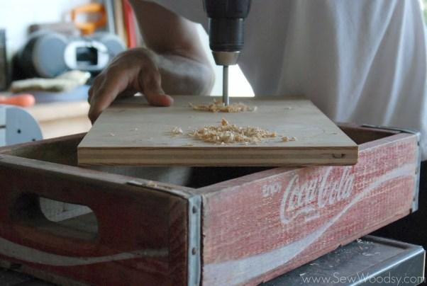 Vintage Coca Cola Crate Turned Dog Bowl Holder