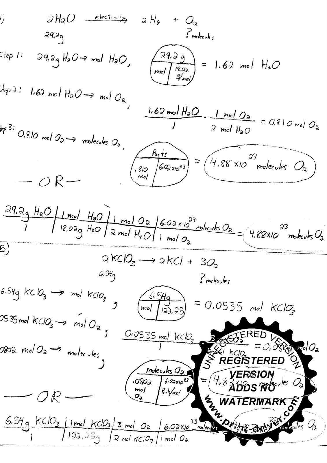Mr Zehner S Chemistry Class March