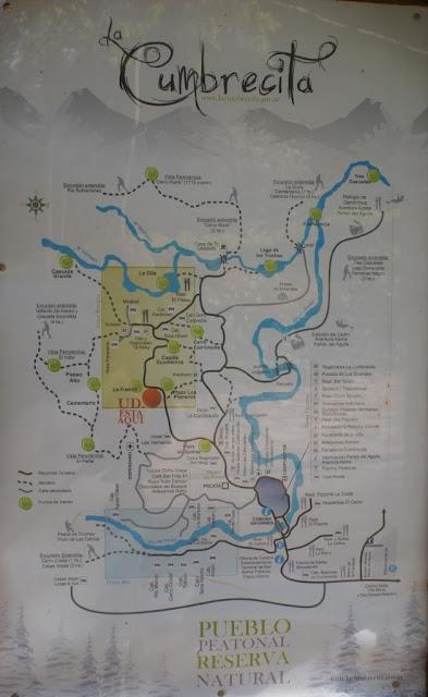 Map of La Cumbrecita