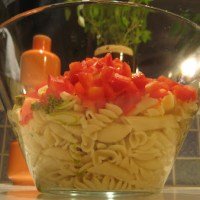Potluck Pesto Pasta Salad
