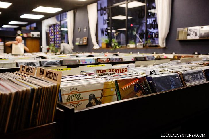 Vinyl at the Last Bookstore LA.