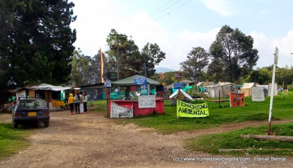 Campamento en el Humedal La Conejera