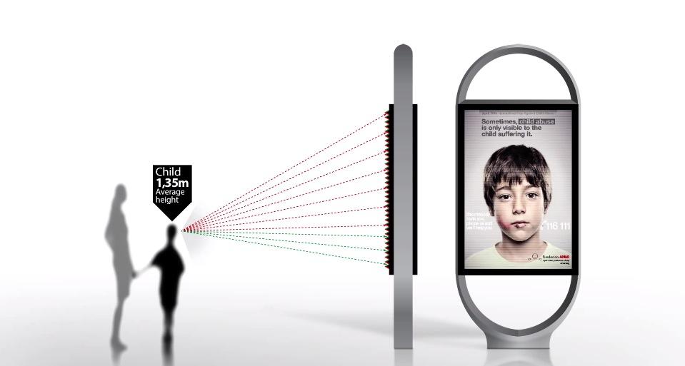 *身高視差只有孩童才看見的求救訊息:ANAR Foundation 西班牙家暴廣告! 2