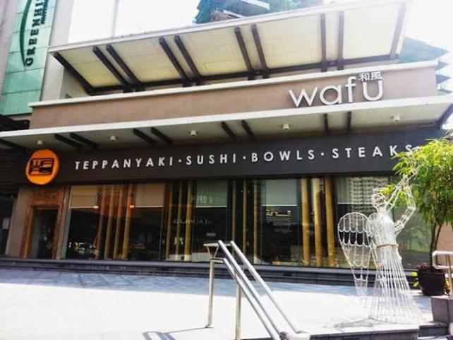 japanese restaurant wafu greenhills san juan manila