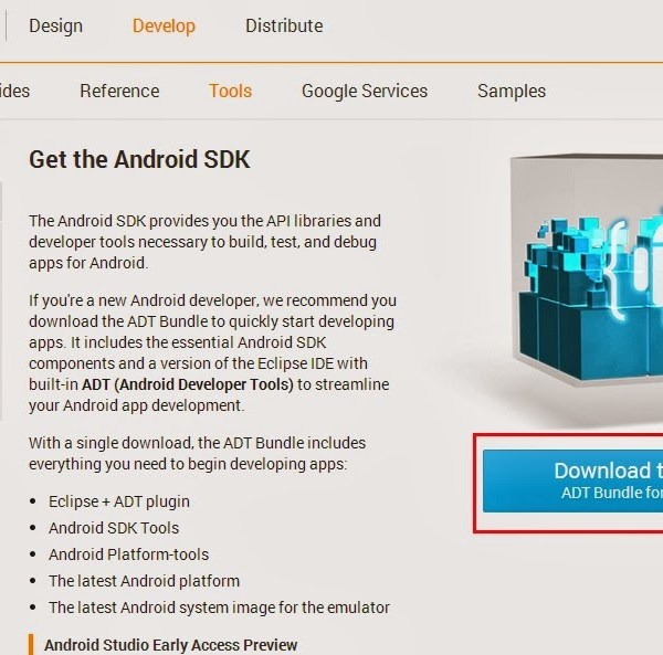 Android SDK Eclipse下載畫面