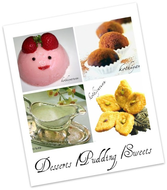 Veg-Recipes -Desserts-Pudding-Sweets |kothiyavunu.com