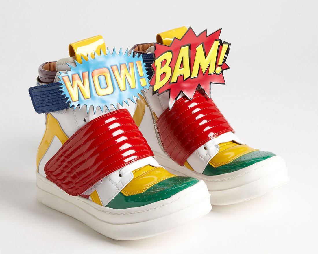 *Jeffrey Campbell 的漫畫球鞋:WOW!BAM! Sneaker 1