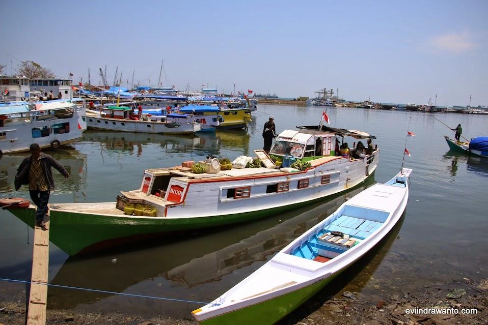 kesibukan di pelabuhan paotere