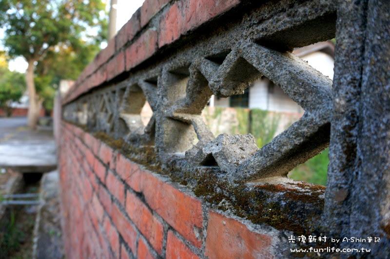 漸漸消失的紅磚瓦建築,還好光復新村保留不少