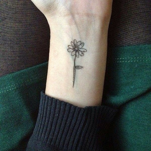 flower tattoos for girls on wrist