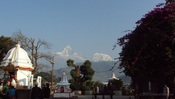 Again, Machhapuchhre and Bindabasini - an early morning view