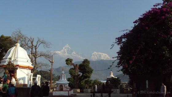 Again, Machhapuchhre and Bindabasini - an early morning view