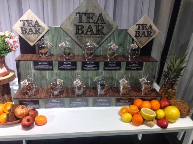 A tea bar featuring fruity and herbal teas