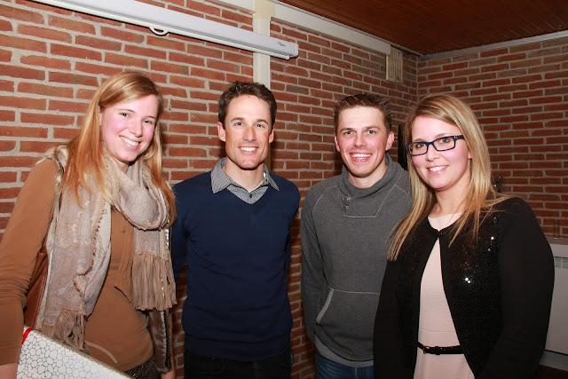 Kristof Vandewalle met vriendin bij Bernard Maes en Mieke Alliët