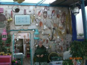 Emporius'taki şirin kafenin duvar süsleri