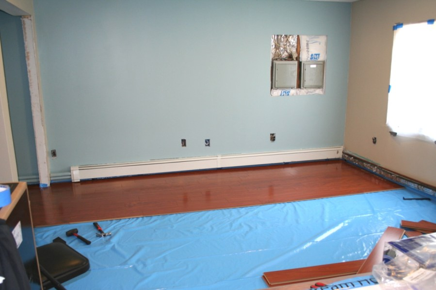 Our Family Room Tour     Part 5  Ceiling  Flooring   Paint