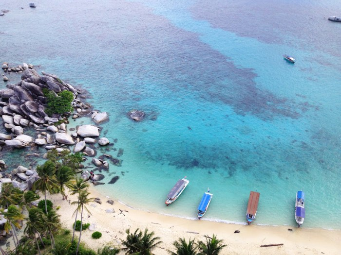 View from the top of the lighthouse, Lengkuas Island