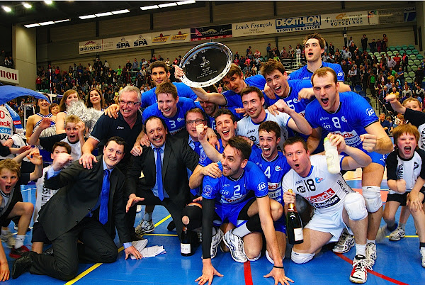 Knack Roeselare is voor de 7e keer landskampioen volleybal