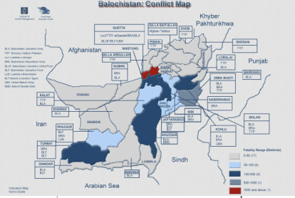 Balochistan Conflict Map: Source SATP