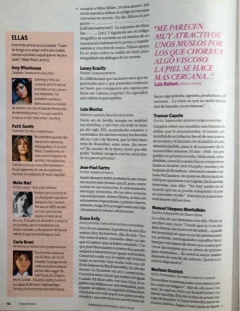 Reportaje en El País sobre el libro de Roser Amills 1001 Fantasías (Ed. Lectio)