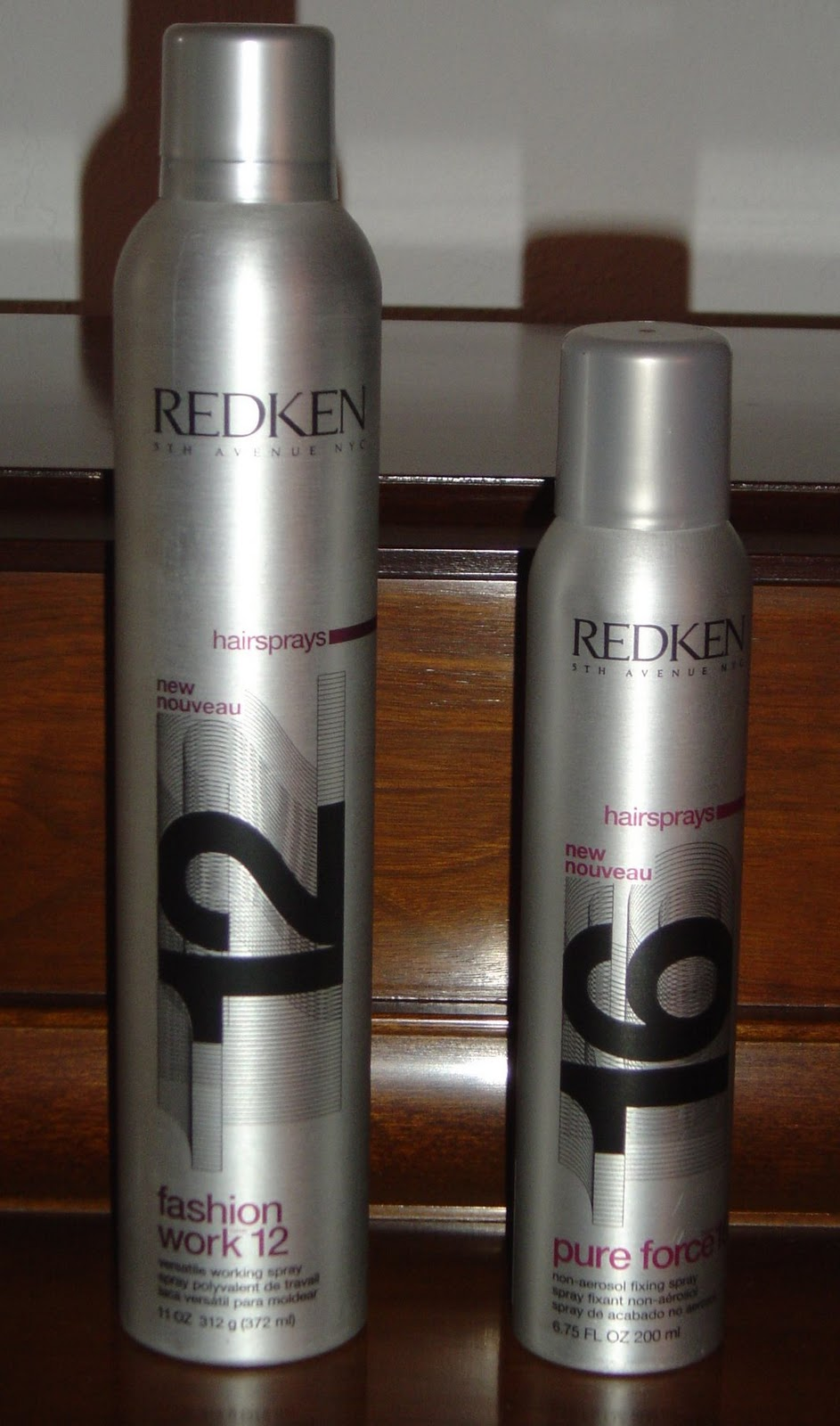 Redken Fashion Work 12 and Pure Force 16 Hairsprays