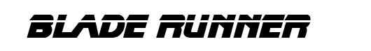 Blade Runner logo font