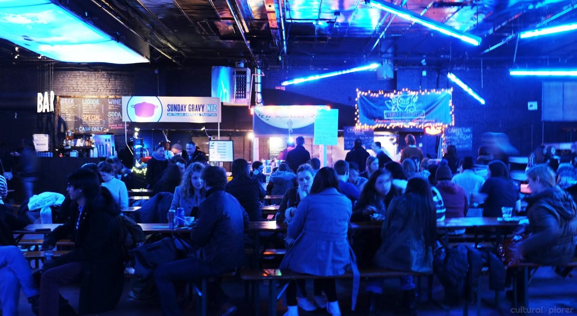 Brooklyn Night Bazaar tables