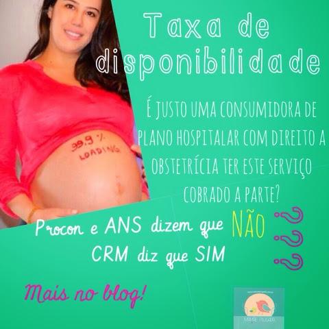 Taxa de disponibilidade no parto