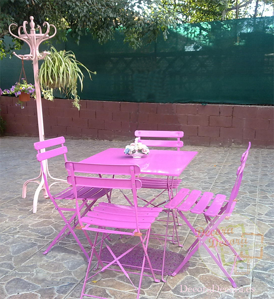 Buena idea para decorar el jardín.