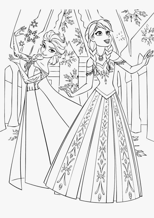 frozen coloring pages printable free