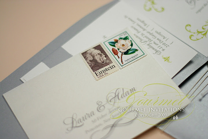 laura + adam: custom wax seal invitations - gourmet invitations, Wedding invitations