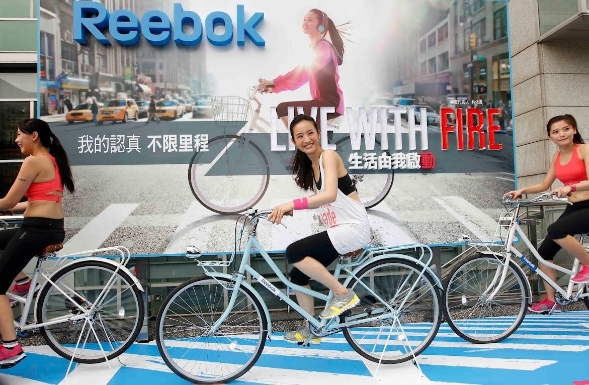 *Reebok 打造戶外腳踏車健身體驗區:林依晨挑戰4公里城市輕運動! 1
