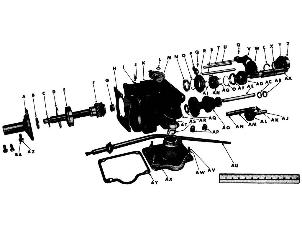 Willys Mb Ford Gpw Transmission Assembly