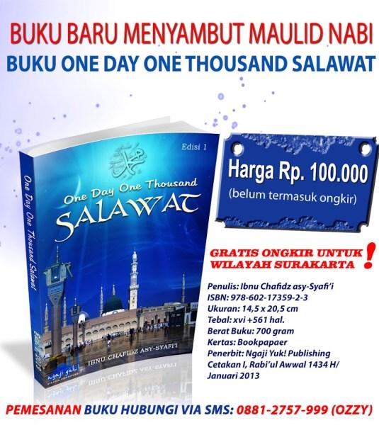 Buku Shalawat Nabi One Day One Thousand Salawat Edisi 1