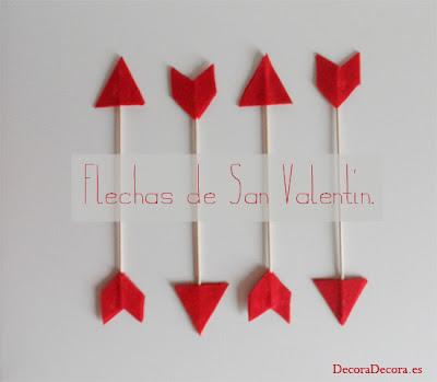 Decorar con flechas para San Valentín.