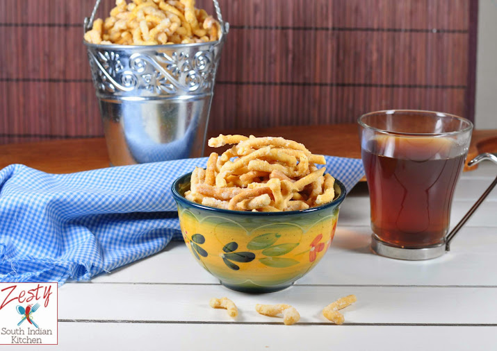 Madhura Seva Sweetened Chickpea Flour Noodles Traditional Snack
