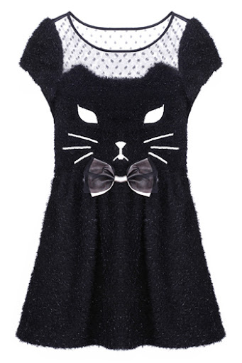 Catsparella  Feline Fashion Must Have  Kitty Dresses by Romwe Hold court as the ultimate crazy  chic  cat lady in these feline inspired  frocks from street fashion slingers  Romwe  Stocks are limited  and prices  range