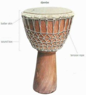 traditional musical instruments - djembe