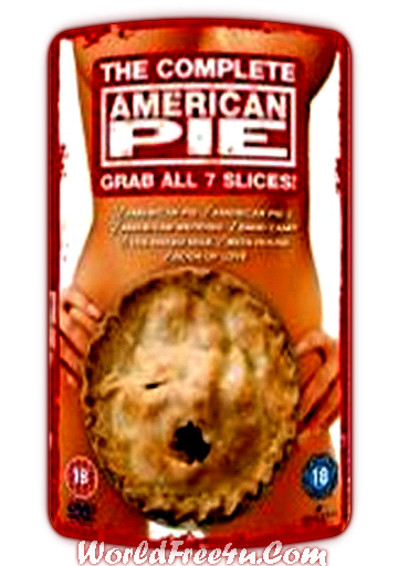 Poster Of Hollywood Film American Pie All 7 Slices In 300MB Compressed Size PC Movies Free Download At worldofree.co