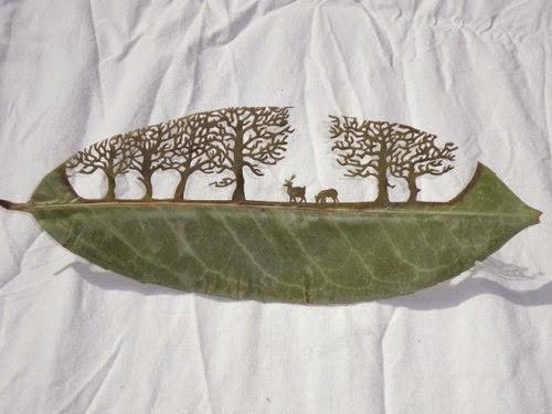 lá cây nghệ thuật