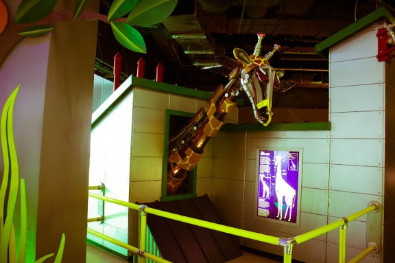 The Robot Zoo Giraffe in the Nido Fortified Science Discovery Center Exhibit Hall