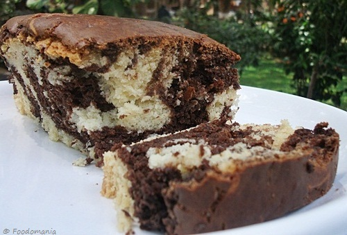 Marble Cake Recipes In Microwave: Eggless Marble Cake Recipe