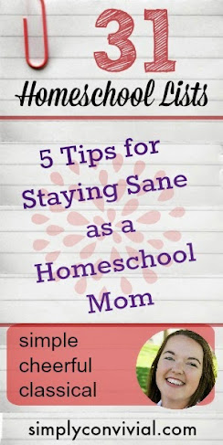 5 concepts to keep you sane as a homeschool mom - it is possible!