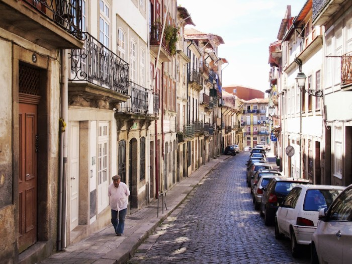 Residential streets of Porto