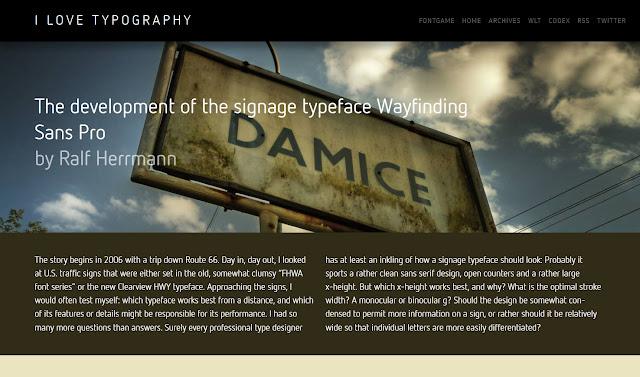 *簡單黑與白的印刷相關網站|I Love Typography Web Site 2