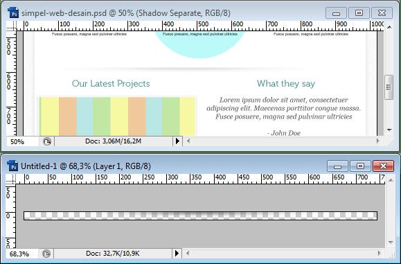 Slicing Shadow Pemisah layout