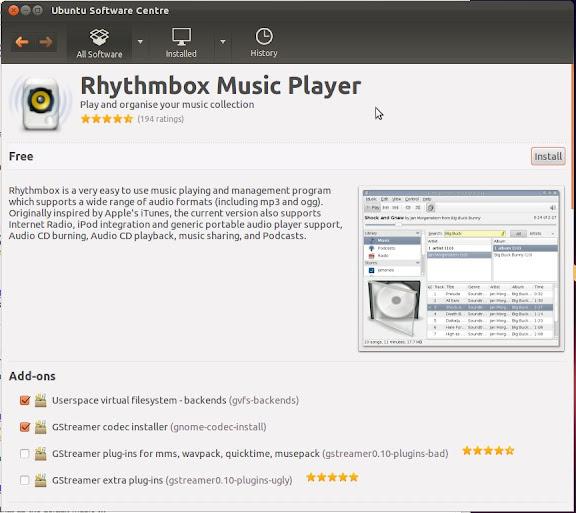 How-to: replace Banshee with Rhythmbox on Ubuntu 11.10 (2/3)