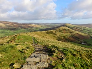 Looking Along The Great Ridge To Lose Hill From Mam Tor